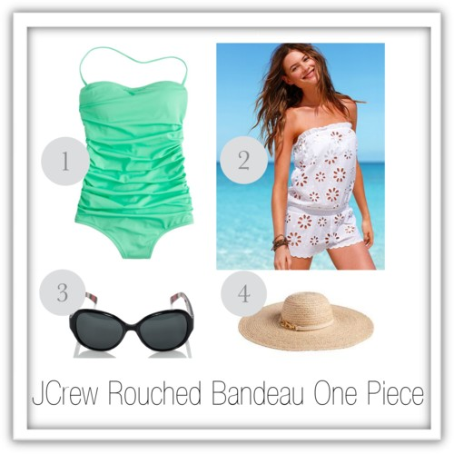 JCrew green rouched