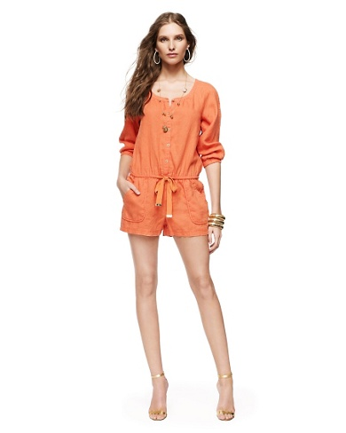 Juicy Couture Linen Beach Romper