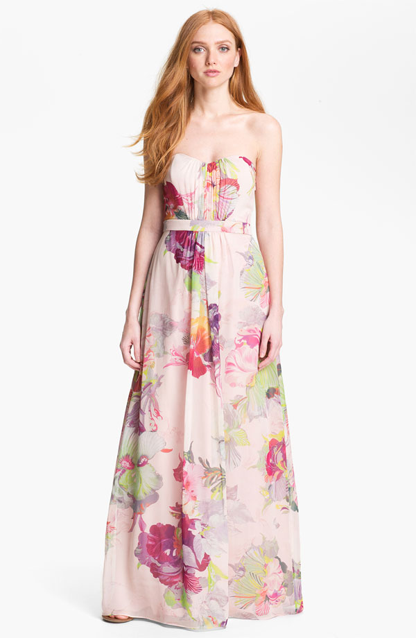 ted baker treasured orchid maxi nordstrom