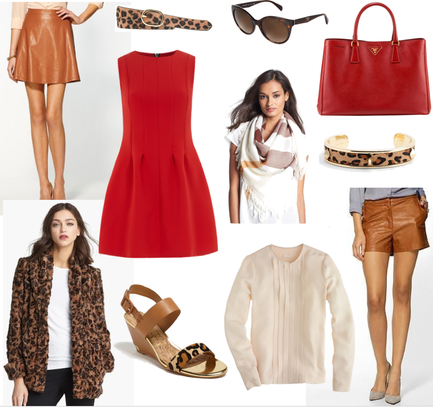 Color Crush: Red, Cognac, and Leopard