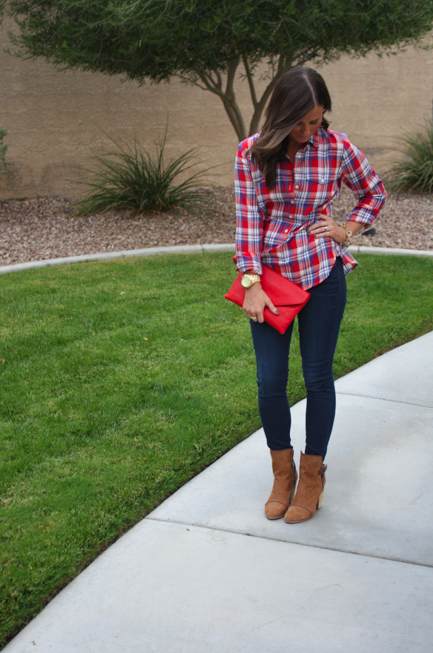 Plaid and Booties