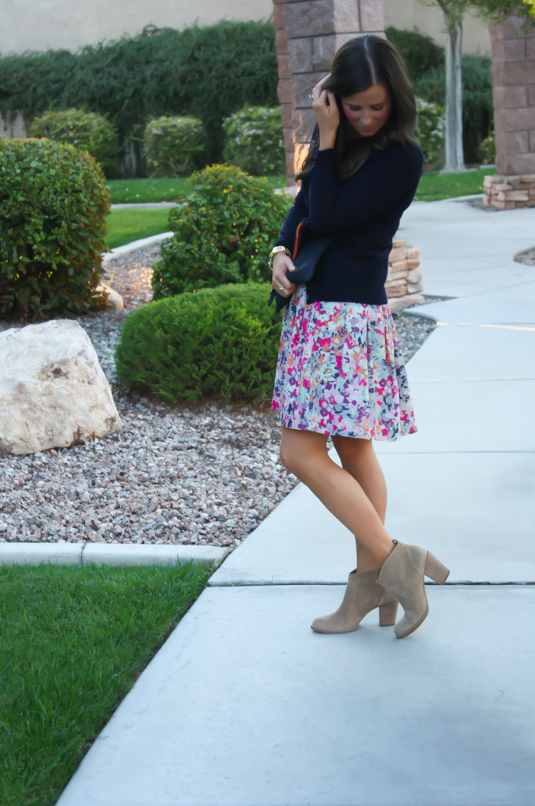 Floral Skirt + Fall Wish List