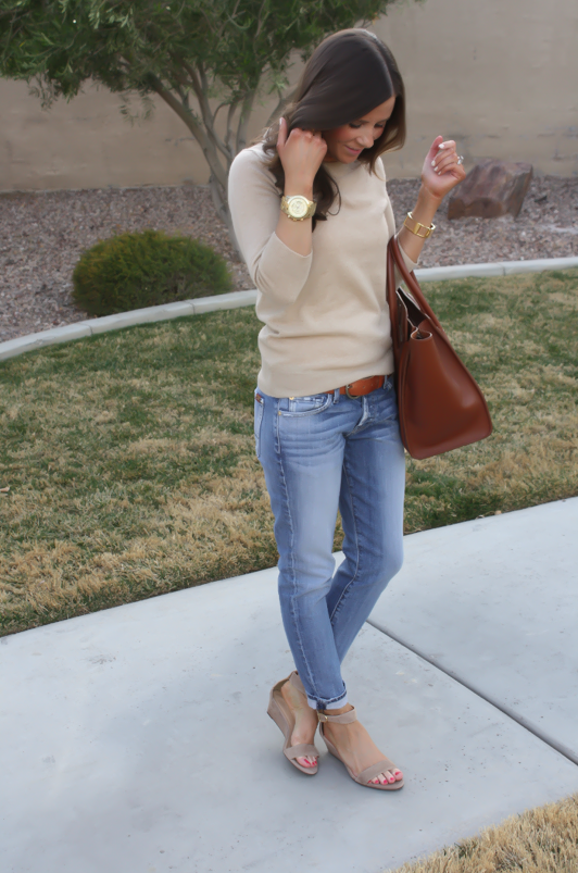 Taupe Jeans Brown Shoes
