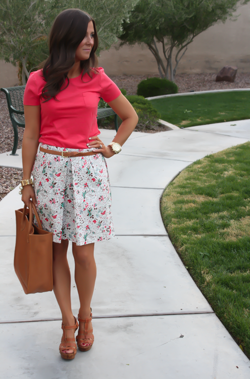 Floral Skirt + A Thank You