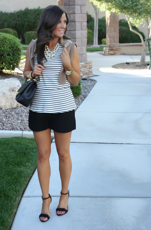 Peplum + Lace Up Heels