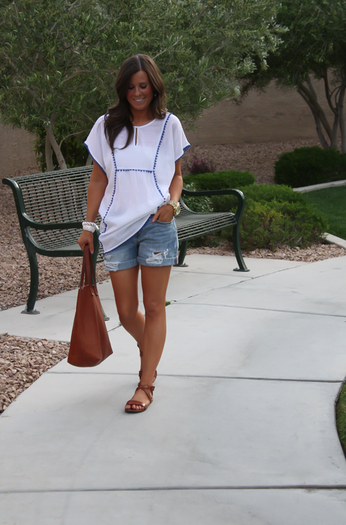 Pom Pom Tunic, Beach Cover Up, Boyfriend Shorts, J.Crew, Gap, Madewell, Spring Style, Summer Style 15