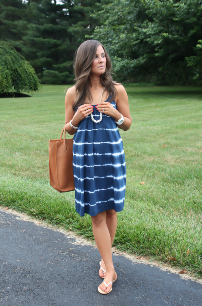 July 4th Post, Navy Tie Die Dress, Red Nails, Madewell, J.Crew Factory, Michael Kors 5