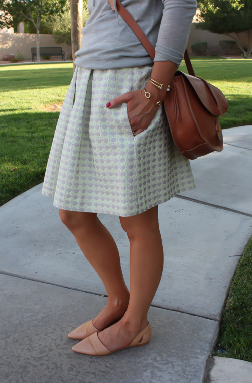 Polka Dot Skirt, Grey Hoodie, Crossbody, J.Crew, Anthropolgie, Madewell 15