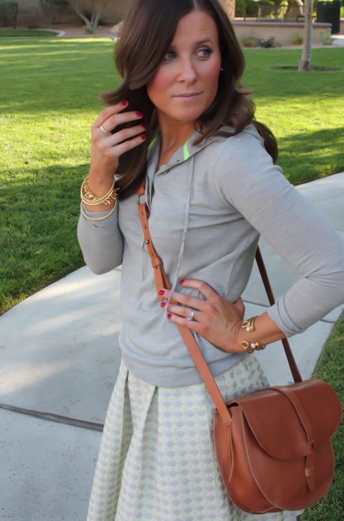 Polka Dot Skirt, Grey Hoodie, Crossbody, J.Crew, Anthropolgie, Madewell 9