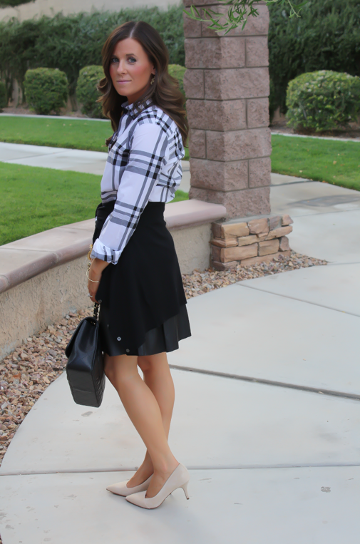 Plaid and Leather + Few Fall Wishes
