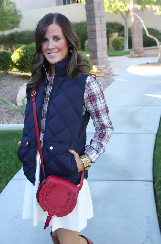 Fall Layers : ivory quilted vest - Adamdwight.com