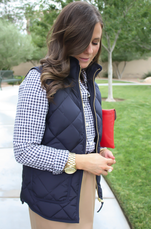 Navy Gingham + Current (Luxe) Craves : quilted vest navy - Adamdwight.com