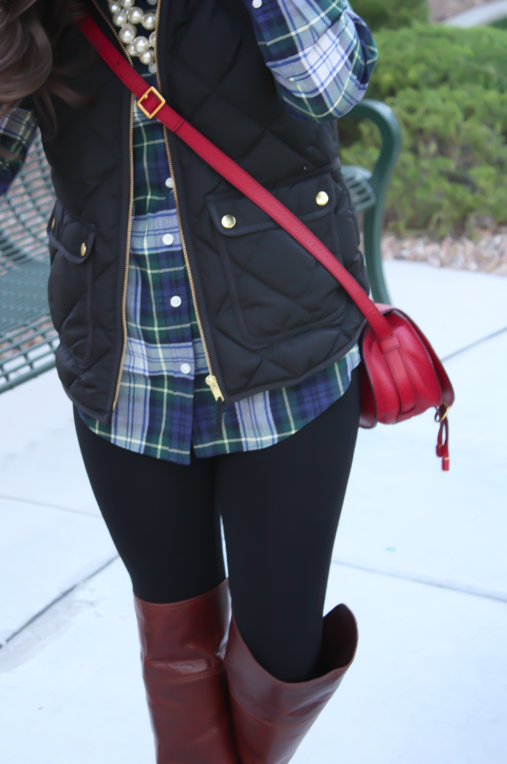 Fall comfort a must have skirt for Brown and black plaid shirt
