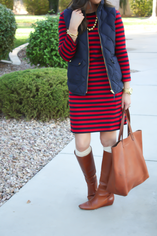 """""""Now and Later"""" Striped Dress"""