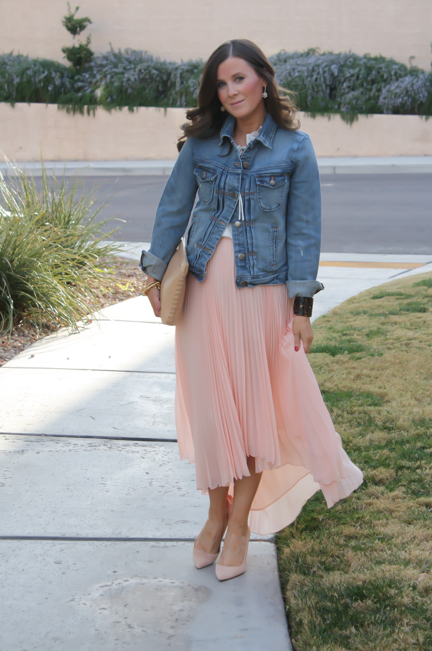 Pink Pleated Skirt + (HUGE!) White Plum Giveaway