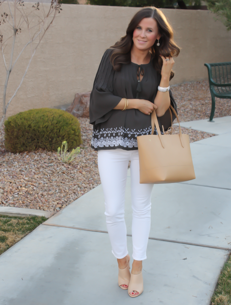 Grey Embroidered Blouse