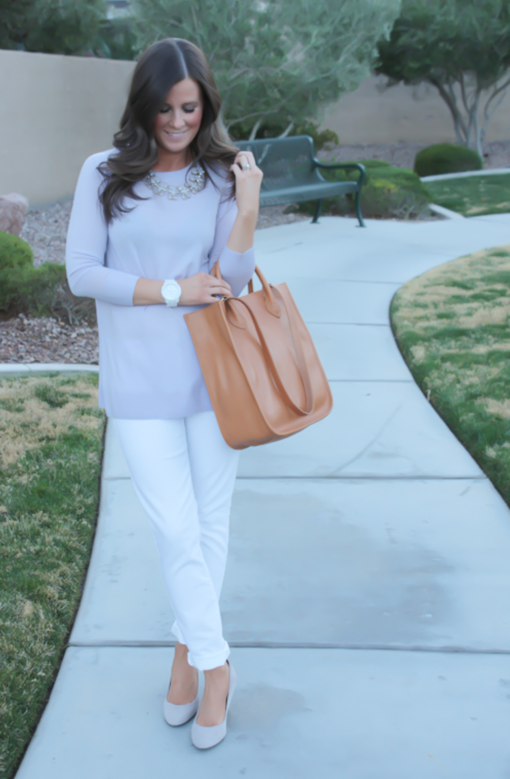 Lilac and White + A Pom-Pom Tunic
