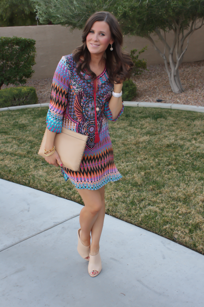 a printed shift outfit inspo and favorites