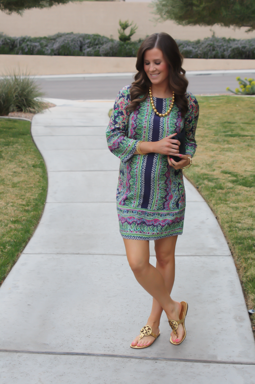 A Printed Shift Dress + Current Favorites