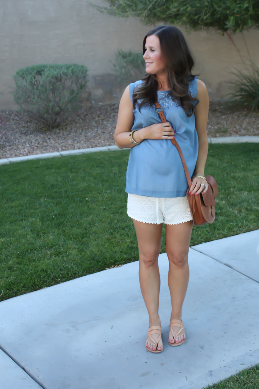 Embroidered Chambray + Crochet