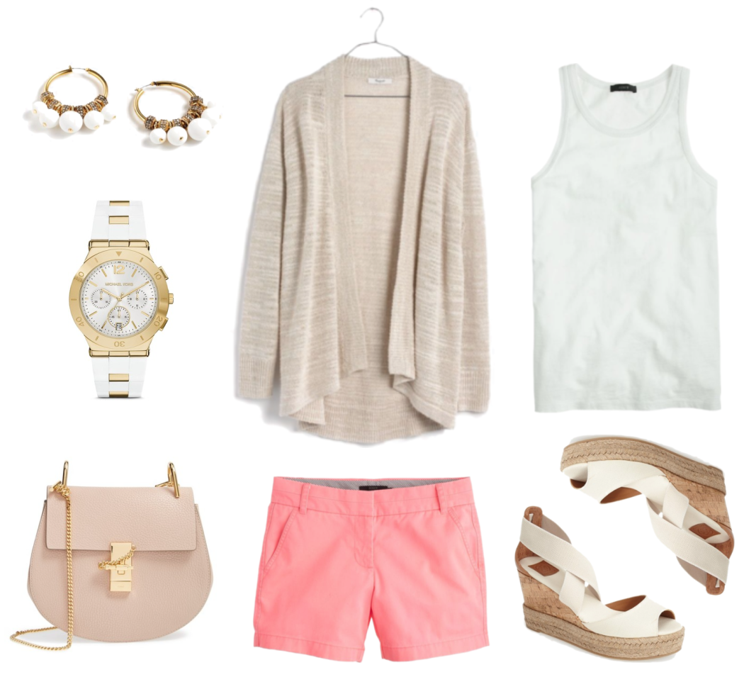 Beige and Coral