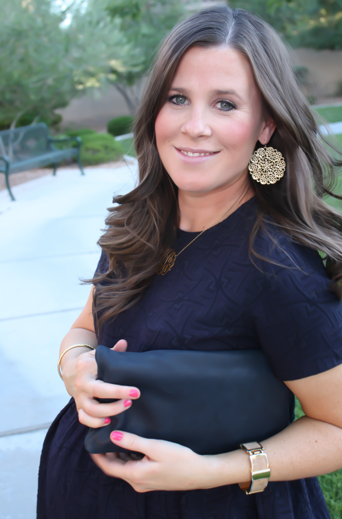 Navy Maternity Dress, Neon Green Heels, Clutch, ASOS, ASOS Maternity, Kate Spade, Clare V 22