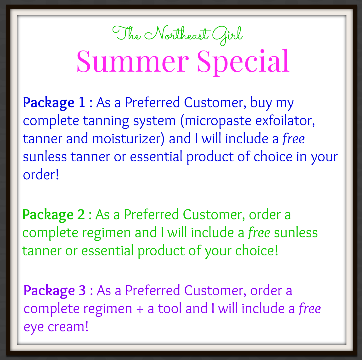 Rodan and Fields + The Northeast Girl : Summer Specials!
