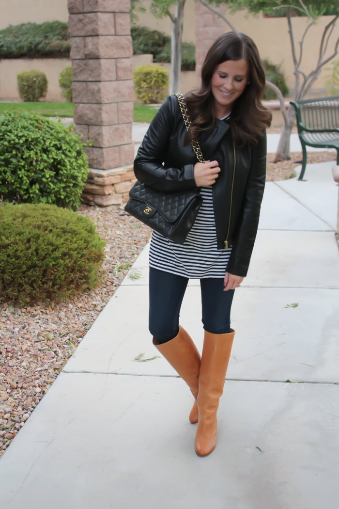 Black And Tan Leather Jacket