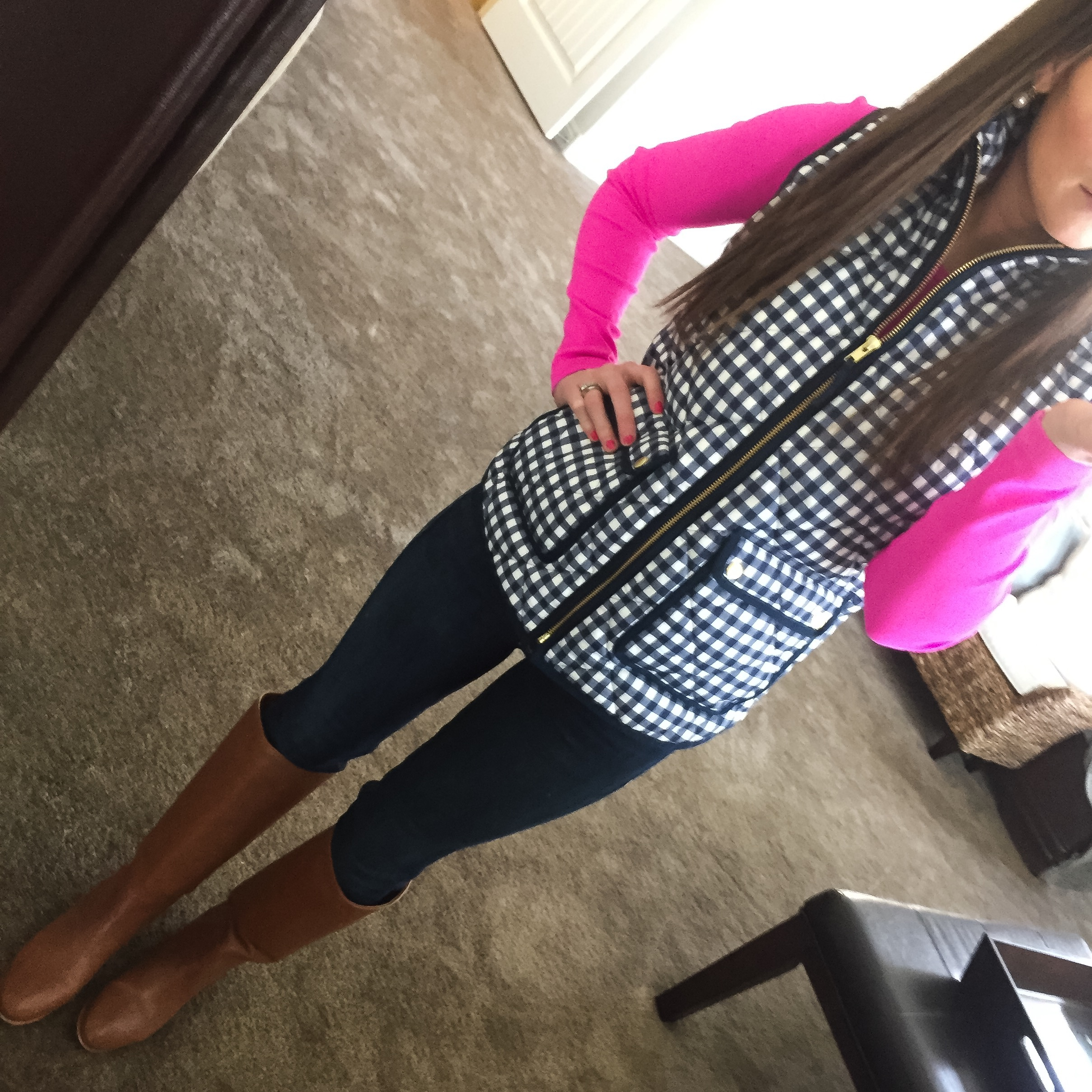 Saturday : Gingham and Pink