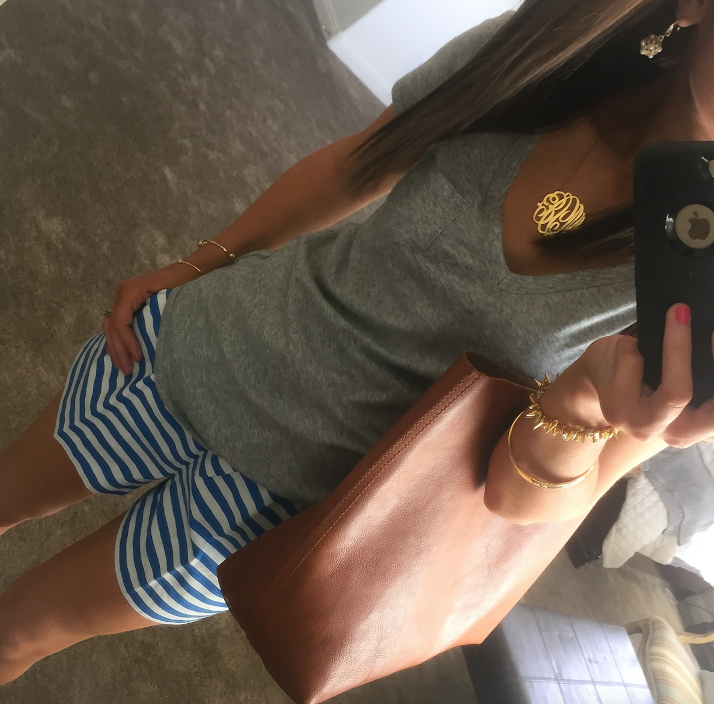 Blue Striped Shorts 2