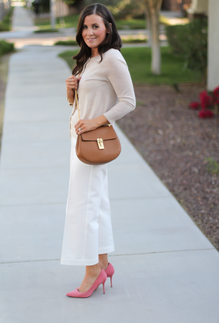 White Wide Leg Linen Pants - Pant Row