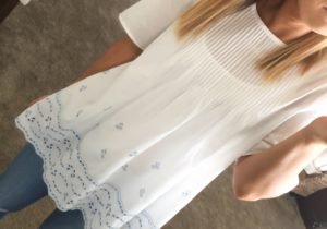 White Eyelet Blouse + Shopbop Sale (coming!)